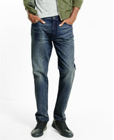 Express tapered leg loose fit medium wash jean
