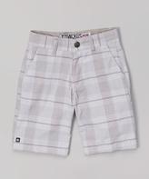 Micros White Plaid Shorts - Toddler & Boys
