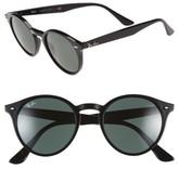 Ray-Ban Women's Highstreet 49Mm Round Sunglasses - Black