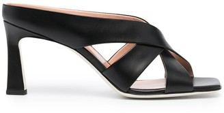 Pollini Sculpted Strappy Slip-On Sandals