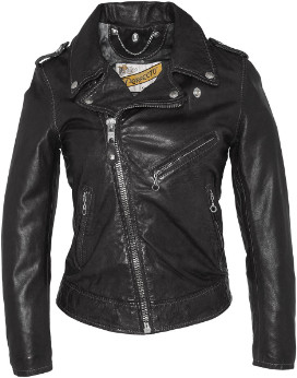 Schott NYC Black Lambskin Lady Perfect Jacket - black | Lambskin | l - Black/Black