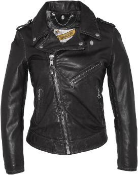 Schott NYC Black Lambskin Lady Perfect Jacket - black   Lambskin   s - Black/Black