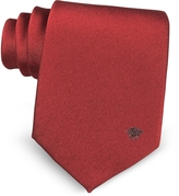 Versace Solid Medusa Pure Silk Tie