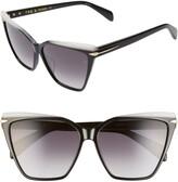Rag & Bone 59mm Gradient Cat Eye Sunglasses