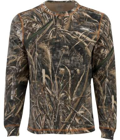 on sale 73a1a 826ec Realtree Men's Long Sleeve Thermal Henley, Multiple Patterns