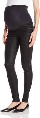 James Jeans Women's Twiggy External Maternity Band Legging Jean in Oil Slicked 31