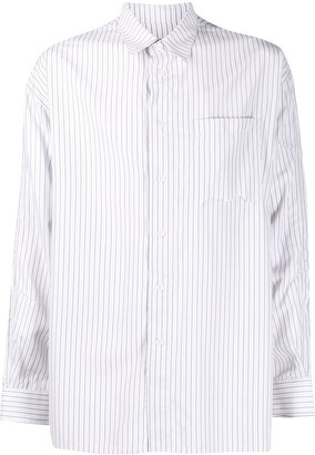 Ader Error Striped-Print Oversized Shirt
