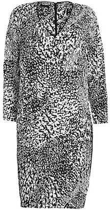 Escada Dixani Abstract Leopard-Print Shift Dress