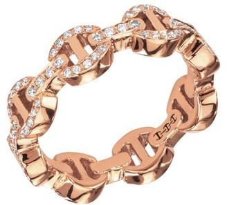 Hoorsenbuhs Heritage Dame Tri-Link 18K Rose Gold & Diamond Ring