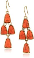 "Kenneth Cole New York Palm Desert"" Semiprecious Stone Chandelier Drop Earrings"