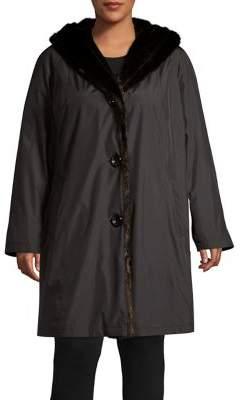 Gallery Plus Faux Fur Hooded Storm Coat