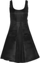 Badgley Mischka Striped neoprene dress