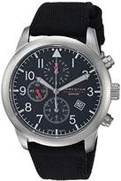 Momentum Men's 'Chronograph Collection' Quartz Stainless Steel and Canvas Casual Watch, Color:Black (Model: 1M-SN34BS6B)