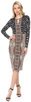Maggy London Lace Scroll Paisley Jersey Sheath Dress