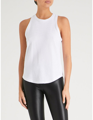 Koral Womens White Aerate Jersey Tank Top, Size: M