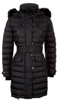 Burberry Fur Trim Down Puffer Coat