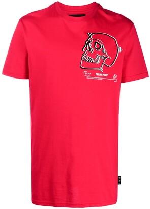 Philipp Plein Outline Skull crew neck T-Shirt