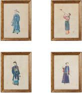 OKA Chinese Piper Framed Prints, Set of 4
