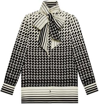 Gucci Geometrical G print silk shirt