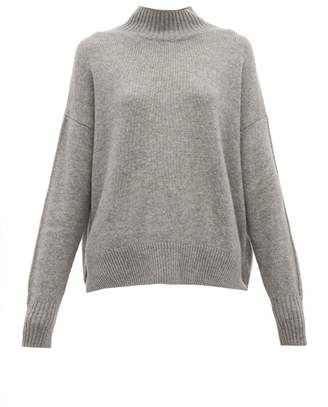 Allude Funnel-neck Cashmere Sweater - Womens - Dark Grey