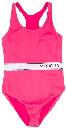 Moncler Enfant Logo Printed Swimsuit