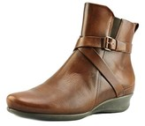 Ecco Abelone Low Cut Zip Women Round Toe Leather Burgundy Ankle Boot.