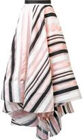 Christian Siriano striped swing skirt