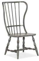 Hooker Furniture Ciaobella Modified Windsor Back Side Chair in Gray