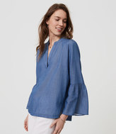 LOFT Chambray Bell Sleeve Softened Shirt