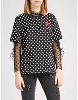 Markus Lupfer Mini Lara Lip cotton-jersey T-shirt
