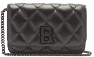 Balenciaga B. Wallet On Chain Quilted-leather Cross-body Bag - Womens - Black