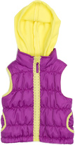 Pink Platinum Purple & Yellow Zipper Tape Puffer Vest - Toddler & Girls