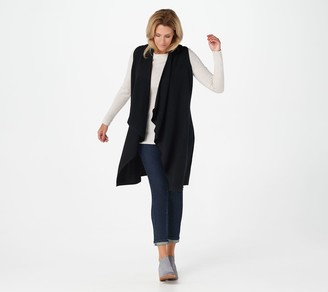 Naadam Soft by 100% Cashmere Cascade Front Long Vest