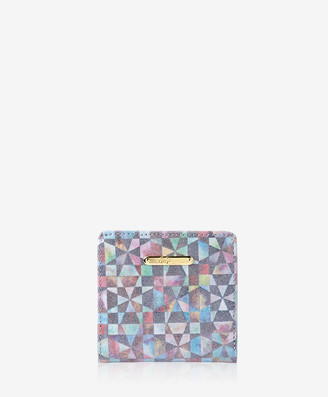 GiGi New York Mini Foldover Wallet, Kaleidoscope Calfskin Leather