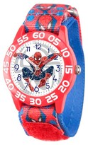 Marvel Boys' Marvel's Ultimate Spider-Man Red Plastic Time Teacher Watch - Red