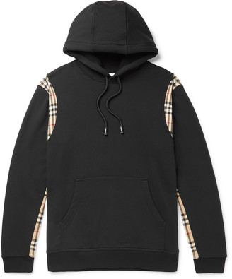Burberry Logo-Print Fleece-Back Cotton-Jersey Hoodie