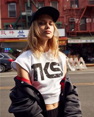 The Kooples Sleeveless white TKS sweatshirt