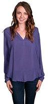 Velvet by Graham & Spencer Women's Long Sleeve Challis Top