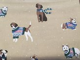 Martha Stewart Collection Dogs Sweater Weather Twin Flannel Sheet Set