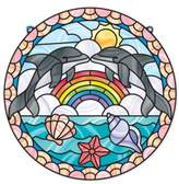 Melissa & Doug Girl's 'Stained Glass Made Easy - Dolphins' Peel & Press Sticker Kit