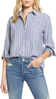 Grayson The Hero Stripe Feathered Cotton Flannel Shirt