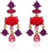 Oscar de la Renta Hyacinth Dahlia Drop C Earrings