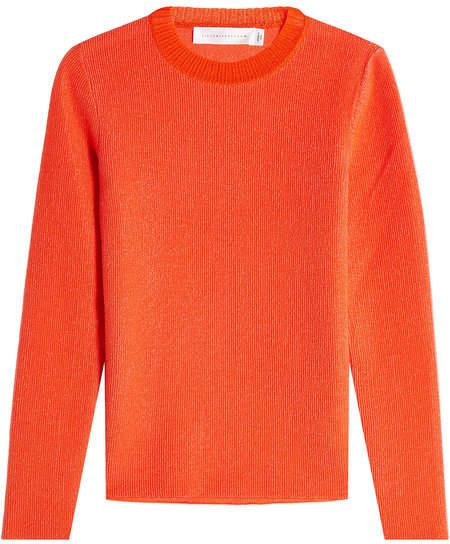 Victoria Beckham Metallic Thread Pullover with Cotton