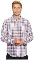 Nautica Long Sleeve Tattersall Woven Shirt Men's Clothing