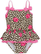Little Me 1-Pc. Leopard-Print Skirted Swimsuit, Baby Girls (0-24 months)