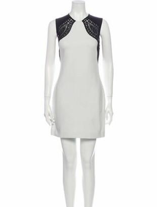 Emilio Pucci Crew Neck Mini Dress White