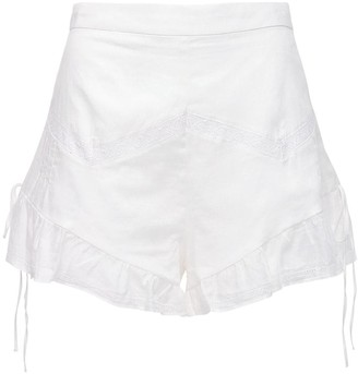 SIR the Label Caprice Ruffled Cotton Shorts