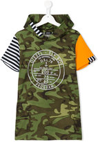Diesel camouflage print hoodie - kids - Cotton - 16 yrs