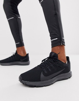 Nike Running Quest 2 sneakers in triple black