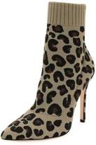 Gianvito Rossi Sauvage Leopard Knit Sock Boot